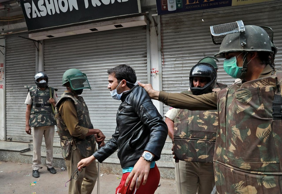 Indian police clear out anti-government protest citing coronavirus
