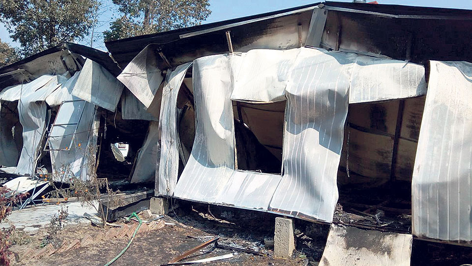 Fire guts prefab cabins of World Vision Int'l