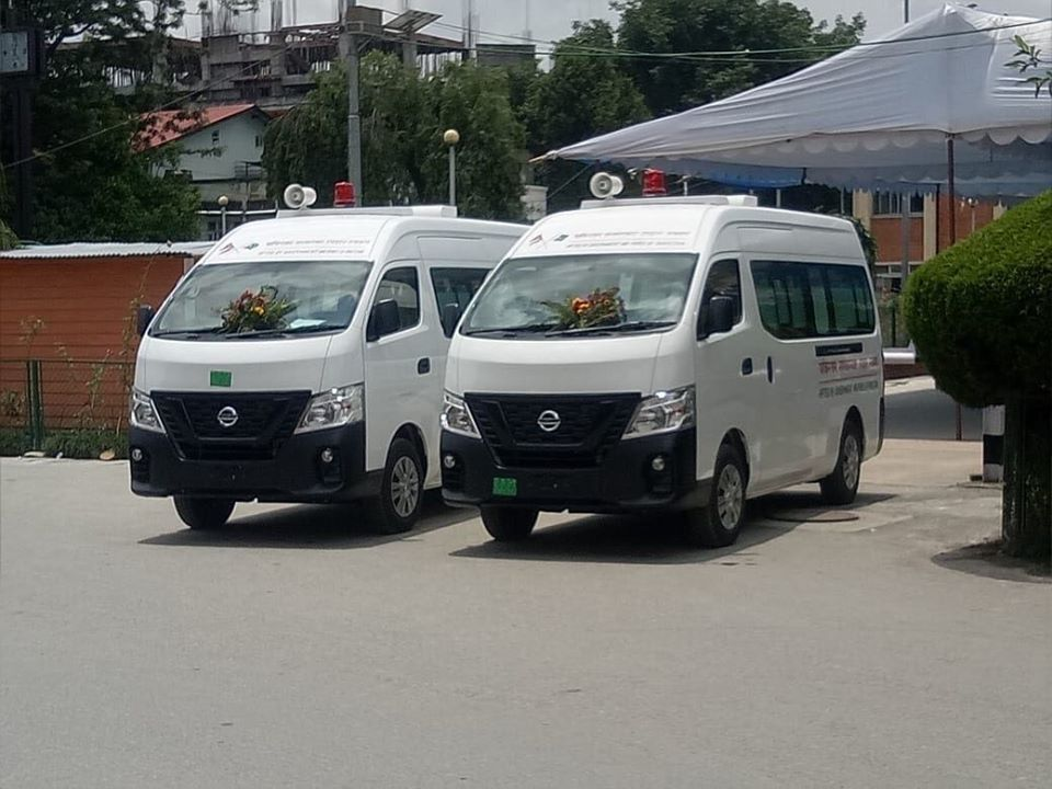 Pakistan gifts two fully-equipped ambulances to TU Teaching Hospital