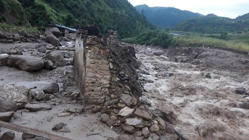Over 20 houses swept away, four dead bodies retrieved; 12 others still missing