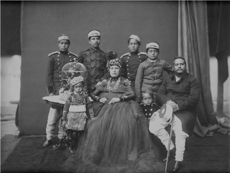Nostalgia: Bir Shumsher with his wife and sons