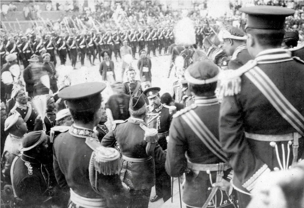 Nostalgia: Officers gathered on the Coronation Day of King Tribhuvan