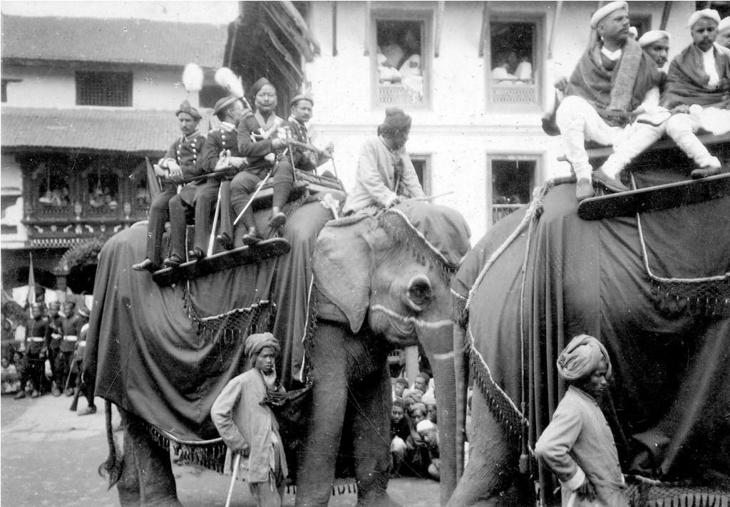 Nostalgia: Elephants being paraded during coronation of late king Tribhuwan in Kathmandu