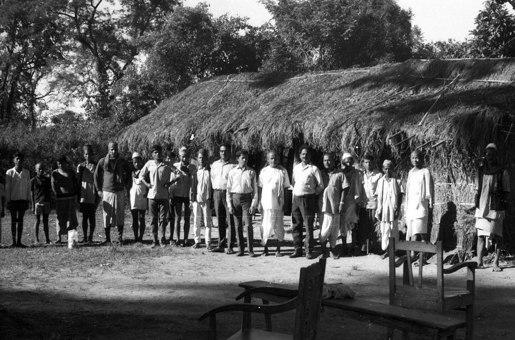 Nostalgia: Surya Bahadur Thapa with  locals in Bangai Village of Lumbini in 1971