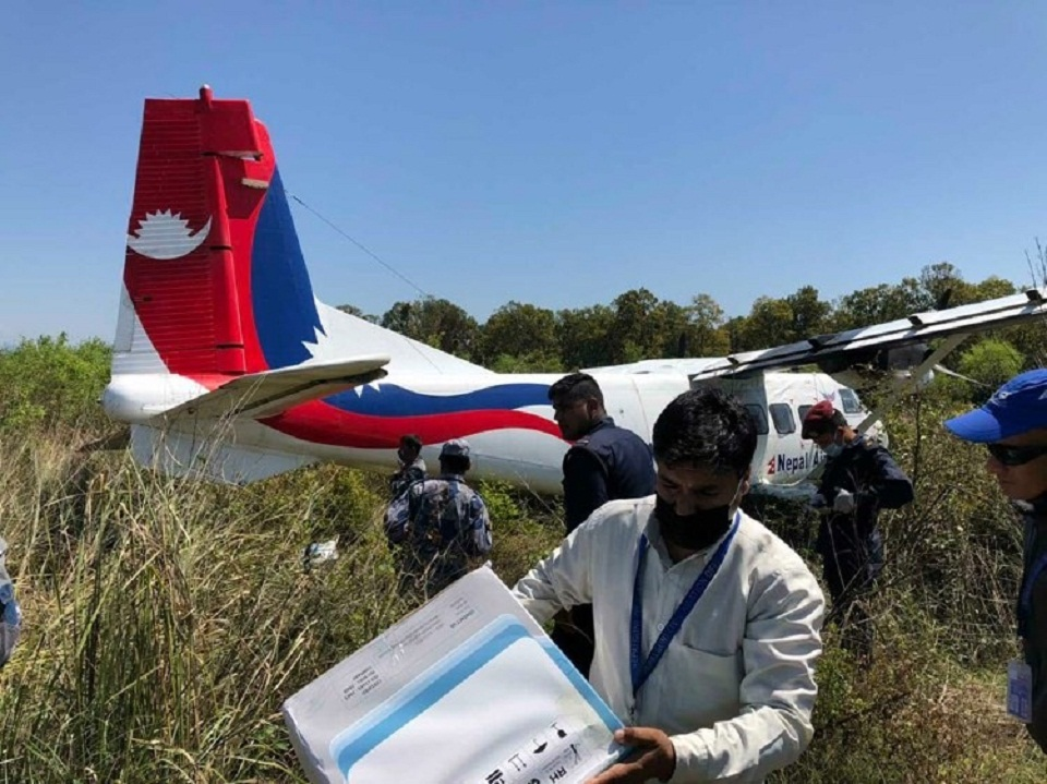 Nepal Airlines aircraft meets with accident while landing at Nepalgunj airport, all on board safe