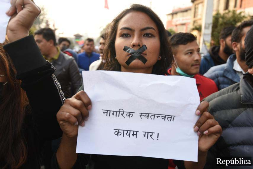PHOTOS: Hundreds take to the street as youth leader Ram Kumari Jhakri arrested
