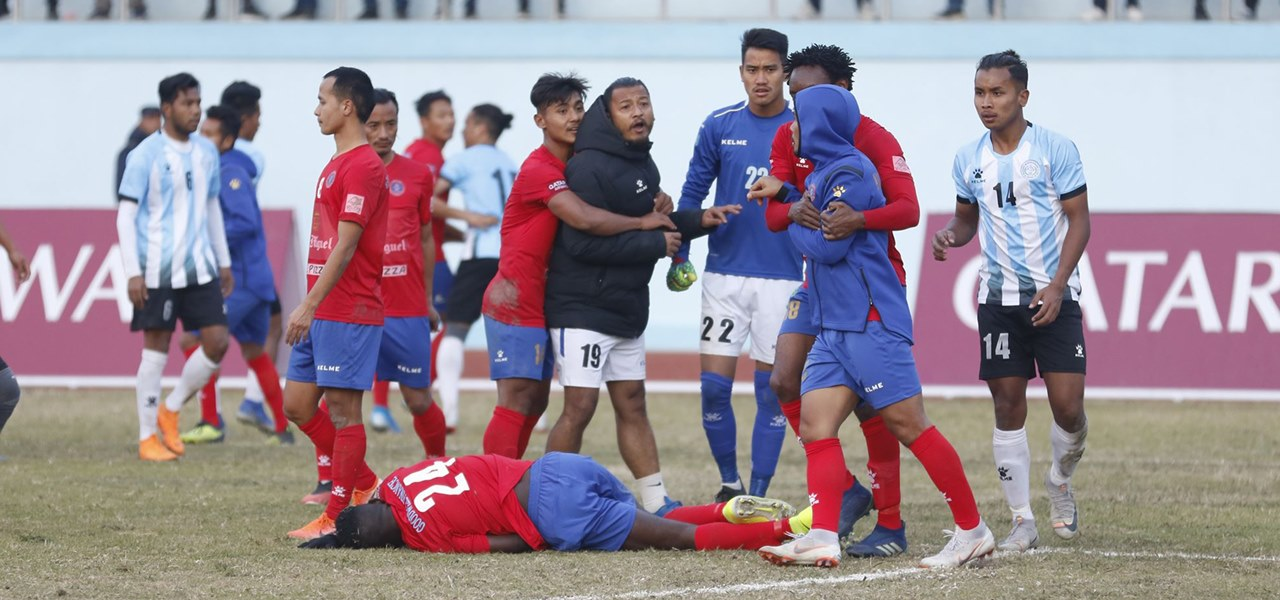 Players of Machhindra, Manang Marshyangdi face action