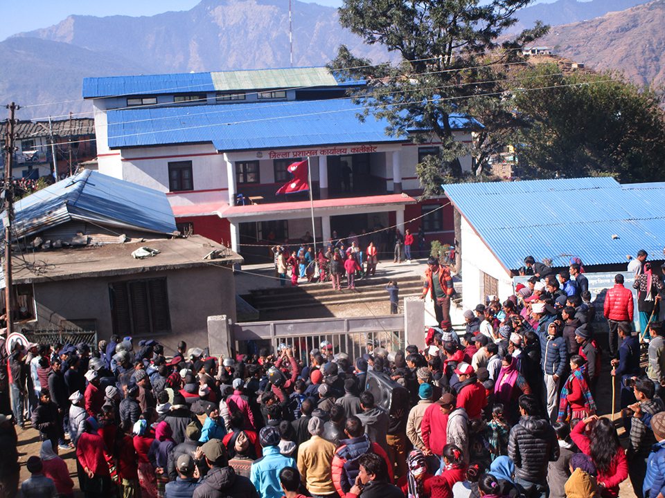 Protest in Kalikot as pregnant woman dies