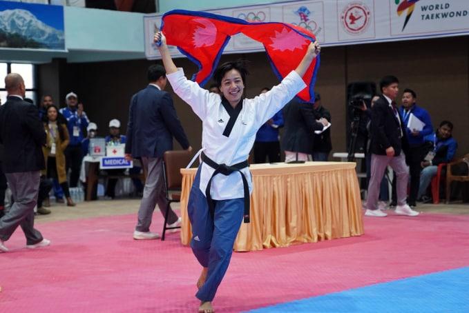Aayesha Shakya wins gold in Taekwondo