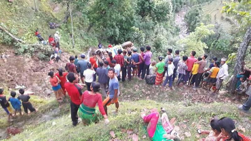 Dhading bus plunge kills four, 25 injured (update)