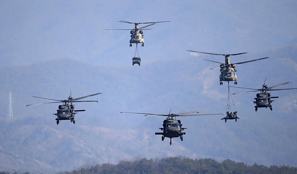 South Korea, U.S. launch aerial drills amid North Korean warnings of nuclear war