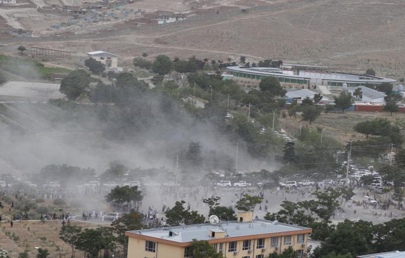 Deadly blasts hit funeral mourners after protests in Afghan capital