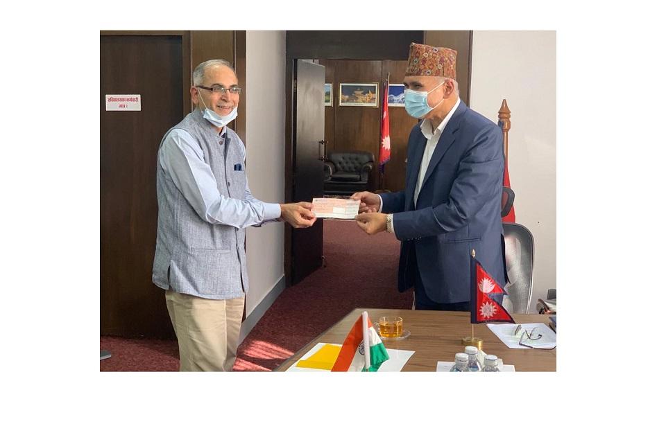 Indian Ambassador meets Finance Minister Poudel
