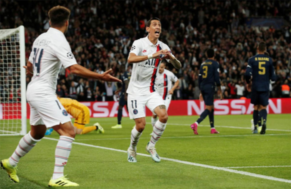 Vintage Di Maria helps PSG overwhelm Real Madrid