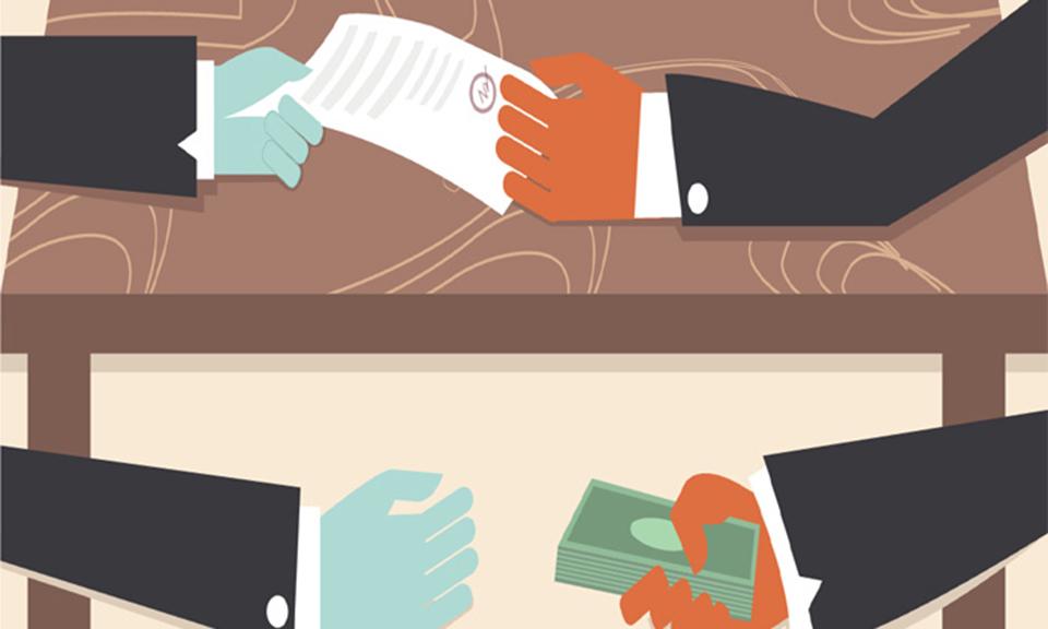 Politicizing corruption
