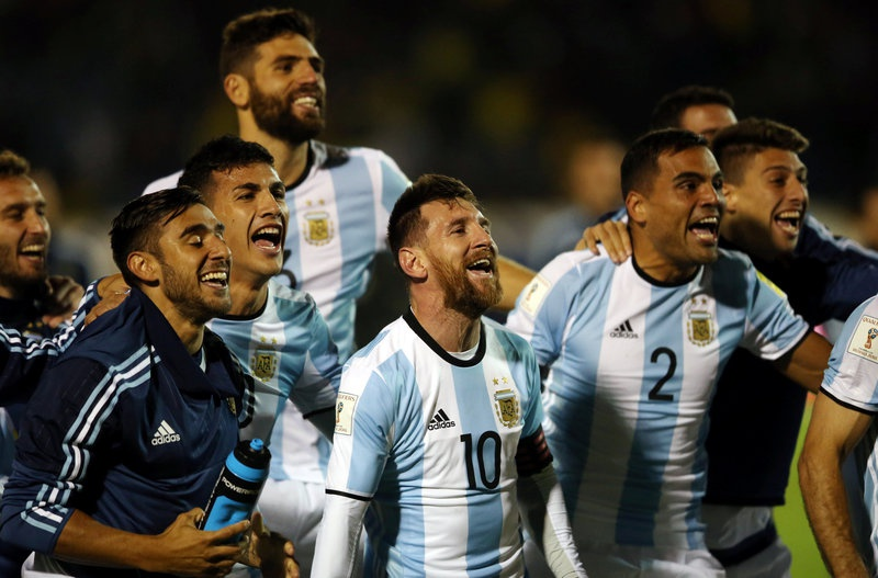 Uruguay, Argentina, and Colombia qualify for World Cup