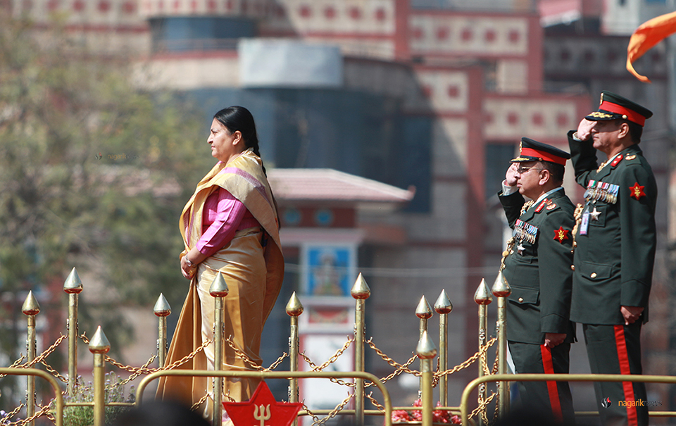President attends Mahashivaratri, Army Day feu-de-joie (photo/video)
