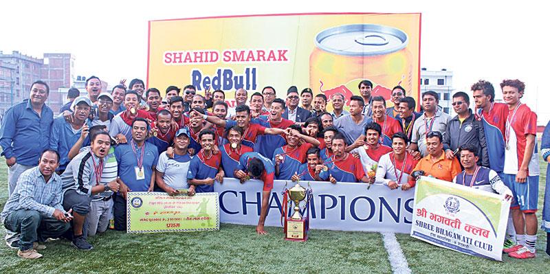 Shree Bhagawati, Jhamsikhel earn promotion to B Division