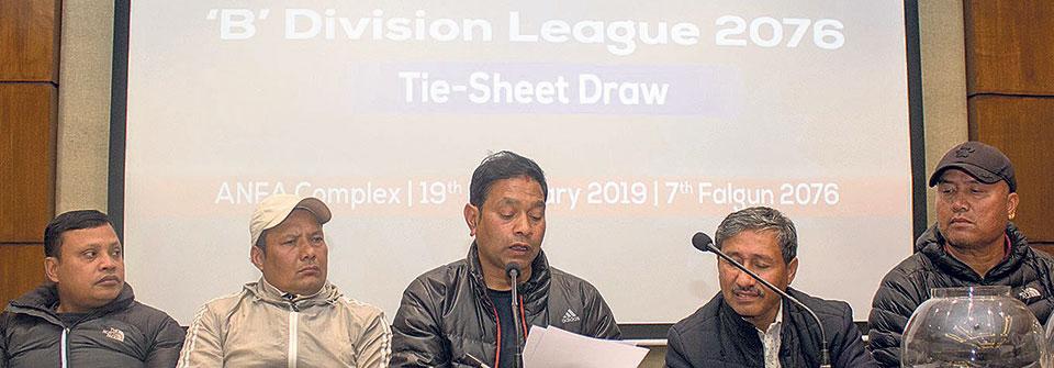 Boys Union, Shree Kumari to kick-start B-Division League