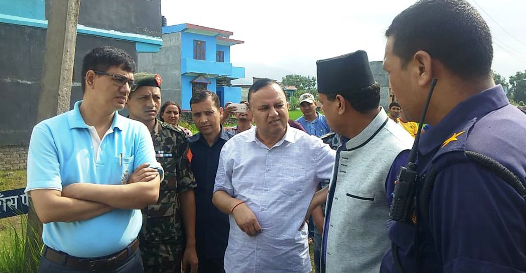 State 5 CM Pokhrel inspects bomb explosion area in Rupandehi