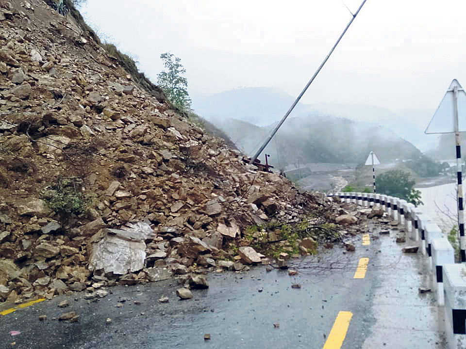 Flood obstructs BP Highway