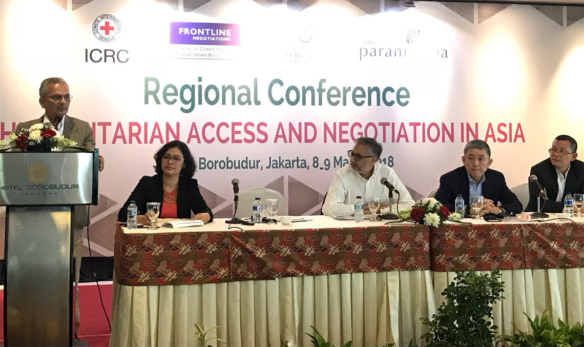 Dr Bhattarai shares experiences about Nepal's peace process in Jakarta