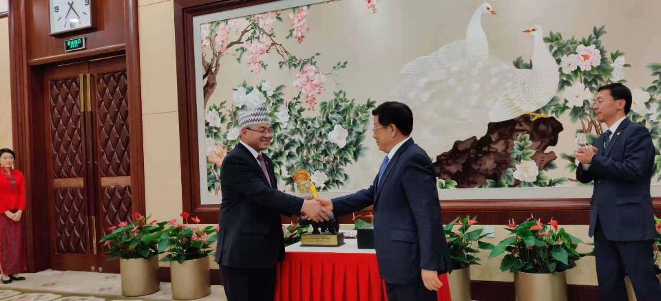 Home Minister Thapa meets Chinese counterpart in Beijing