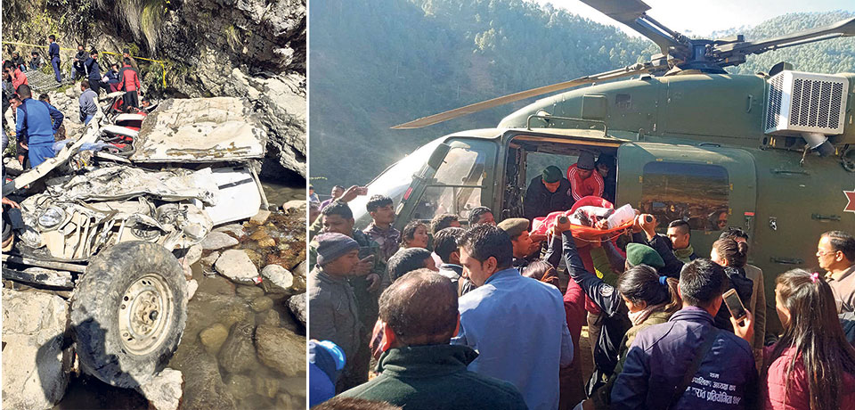 14 killed as jeep plunges into river in Baglung, three critical