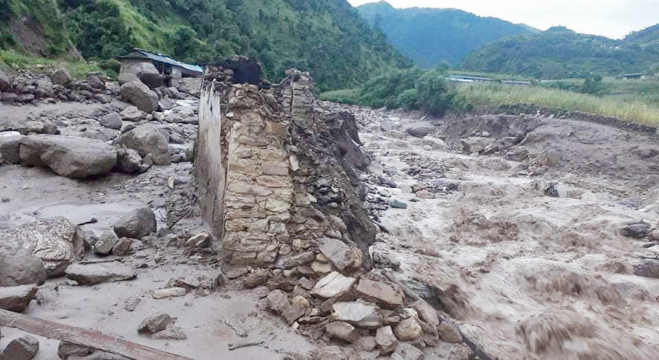 Bhujikhola flood damages 171 physical structures