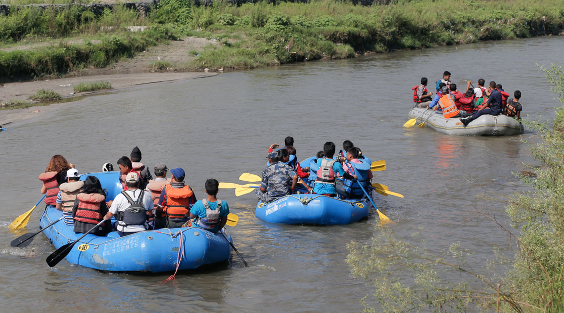 In pictures: Rafting in Bagmati River