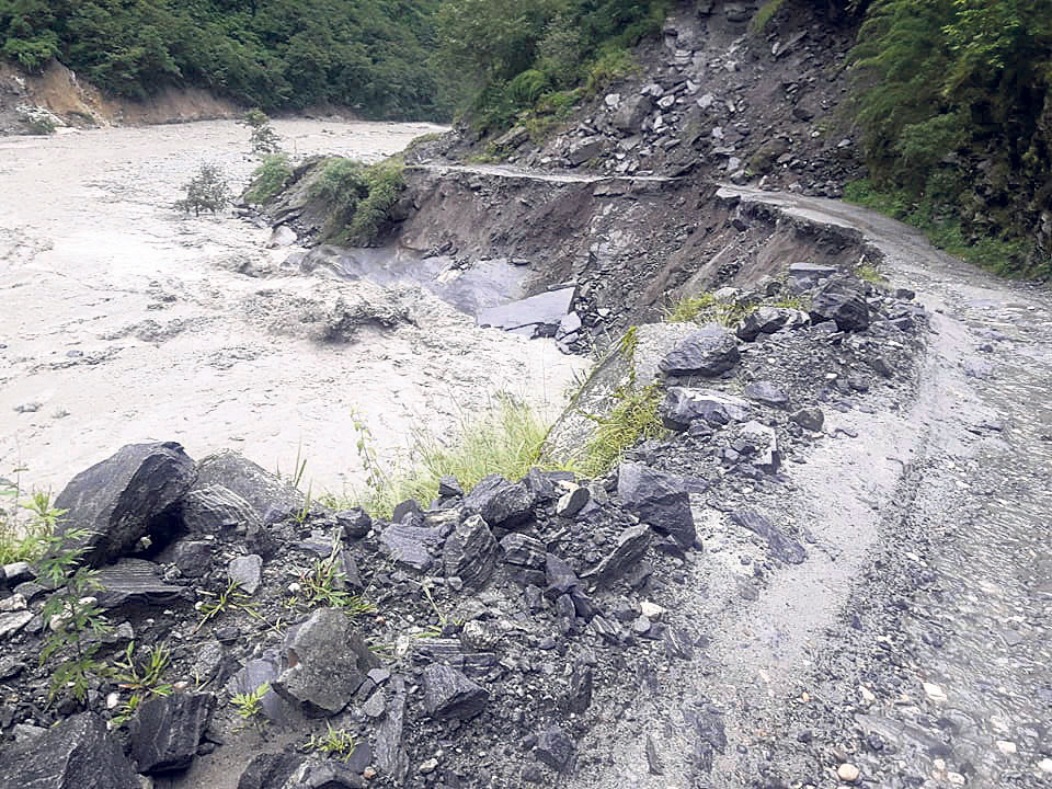 Beni-Jomsom road closed for four days
