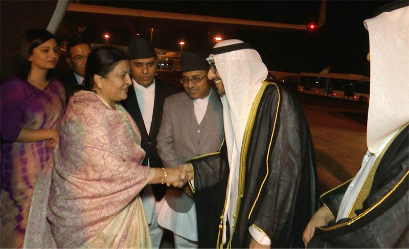 Prez Bhandari calls on Abu Dhabi Crown Prince