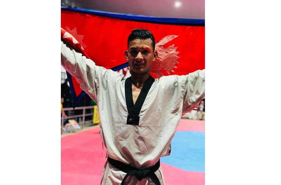 Another gold for Nepal, Bir Bahadur Mahara wins in Taekwondo