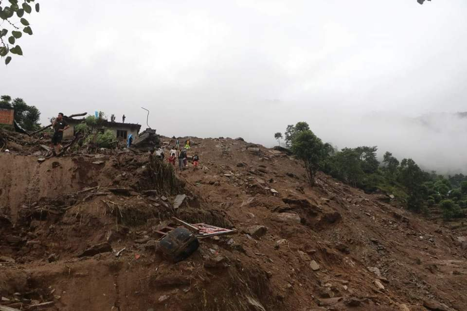 At least three killed, dozens missing as massive landslide sweeps away nine houses in Sindhupalchowk