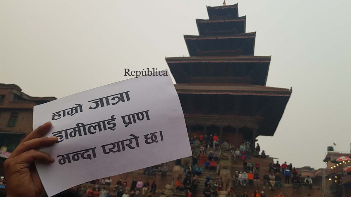 PHOTOS: 'Why can't we hold Biska Jatra?'