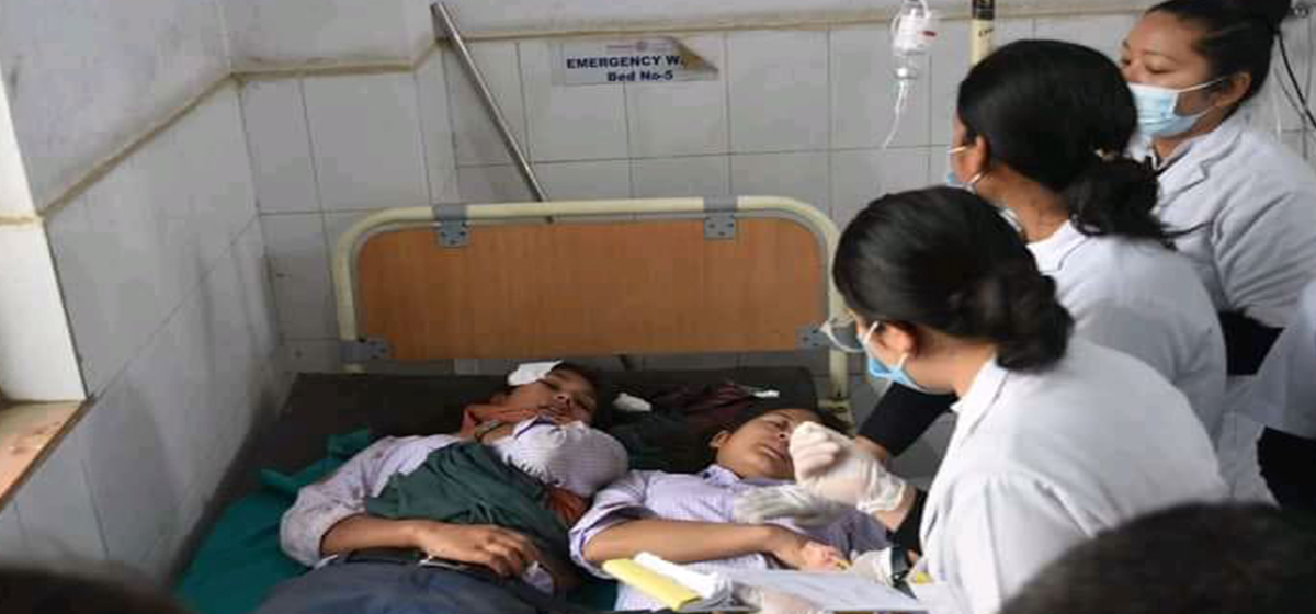One killed, 22 others injured in school bus accident in Dang