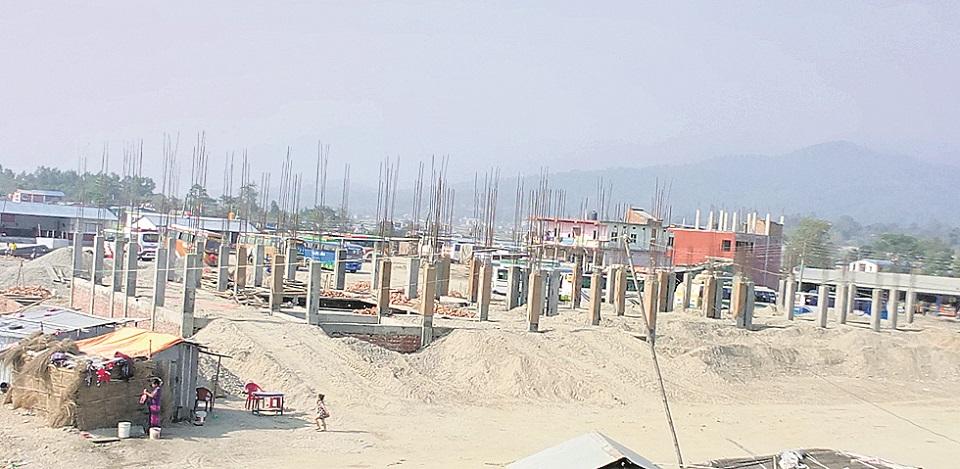 Udayapur bus terminal construction in full swing