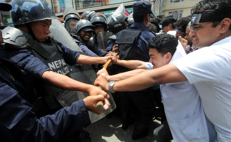 Police lathi-charge Dr Govinda KC supporters, 10 injured