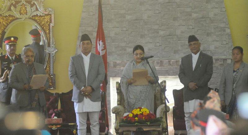 CJ Karki, CEC Yadav take oath of office and secrecy