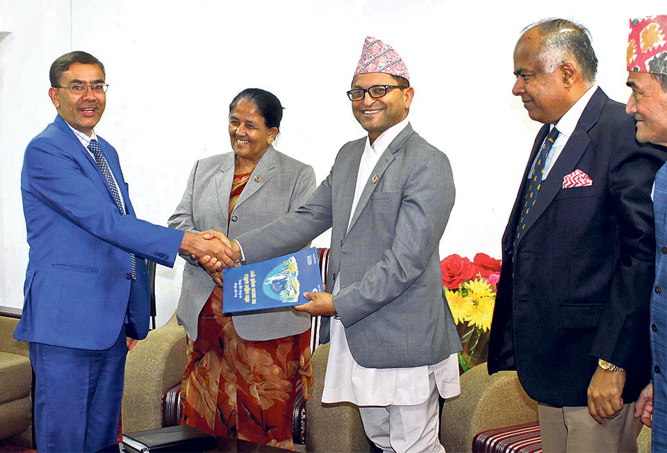 CNI hands over economic prosperity roadmap to Speaker Mahara
