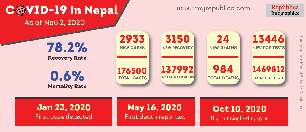 COVID-19 Updates: 2,933 new cases detected through 13,446 PCR tests on Monday; 24 new deaths reported
