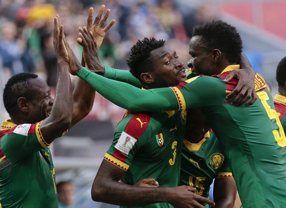Cameroon's Aboubakar lets Australia off hook