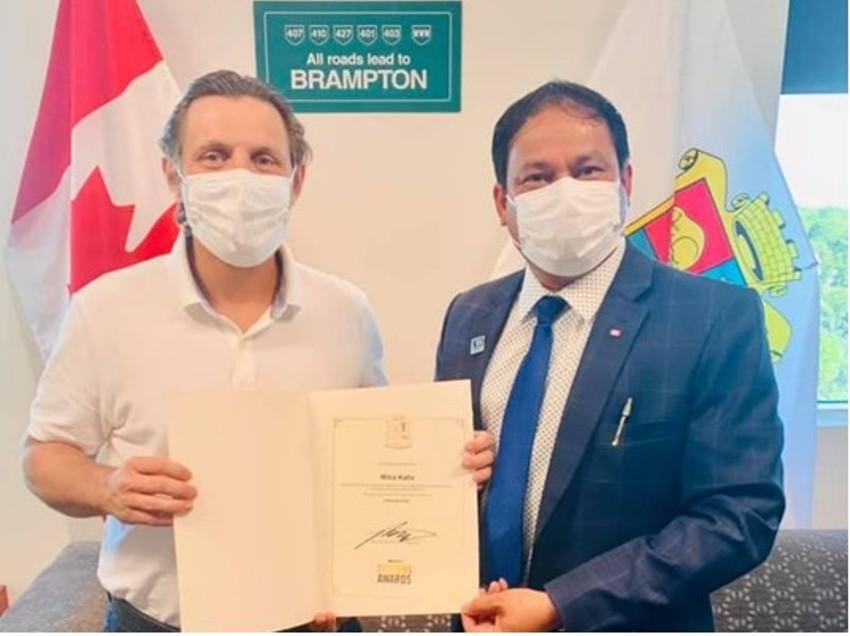 Canada based Nepali Mitra Kafle awarded with Citizens Award by Canadian govt