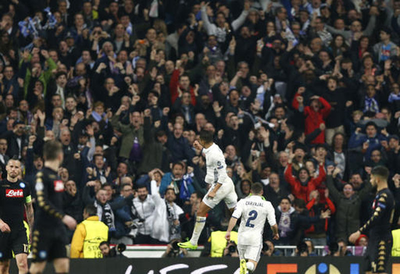 Madrid upset Napoli as Zidane want his players to fire all cylinders in 2nd leg