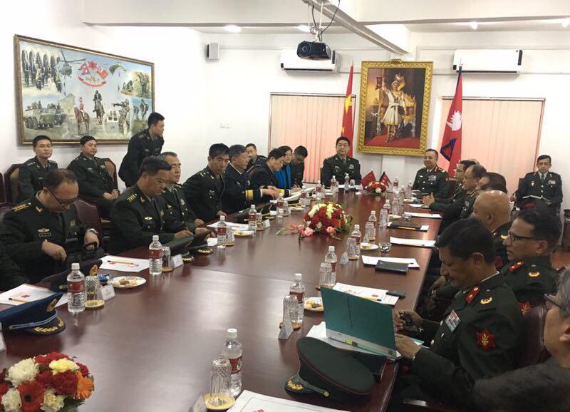 Chinese Defense Minister Chang at NA HQ