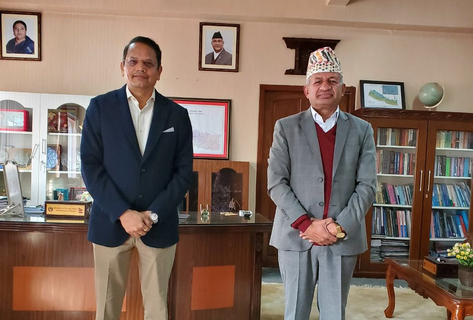 India's ruling BJP leader meets Foreign Minister Gyawali, discusses issues of mutual interest
