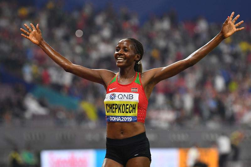 Athletics: Kenya's Chepkoech breaks 5km world record in Monaco