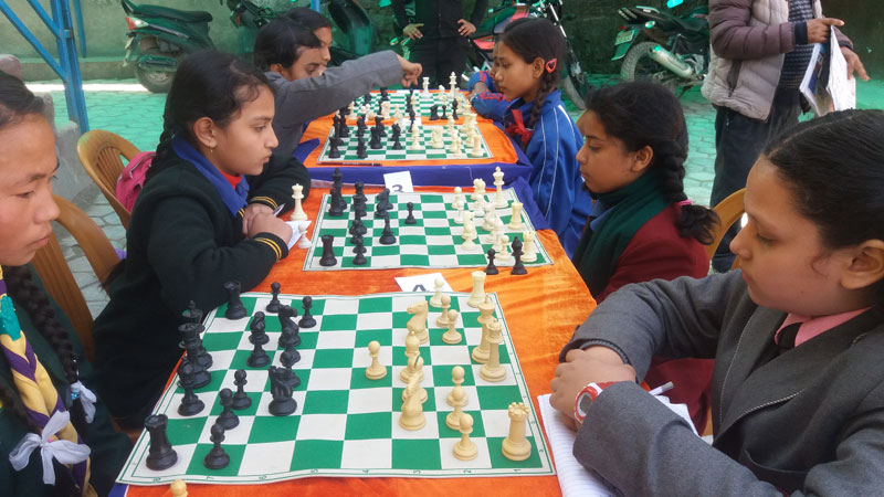 Interschool chess competition at Pioneer