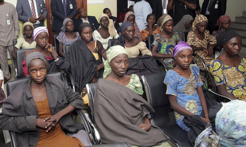 82 freed Chibok schoolgirls to meet with Nigerian president