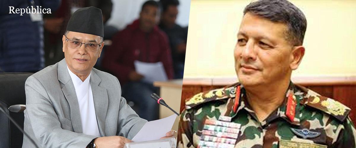 Army chief Thapa meets Chief Justice Rana